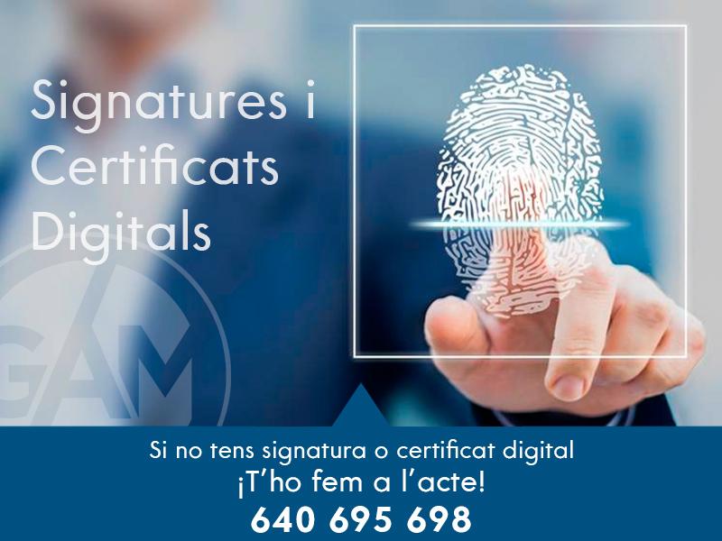 signatures i certificats digitals gestoria a mataro